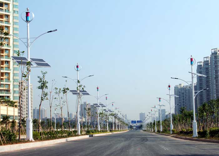 Wind And Solar Hybrid Street Light Road Lighting