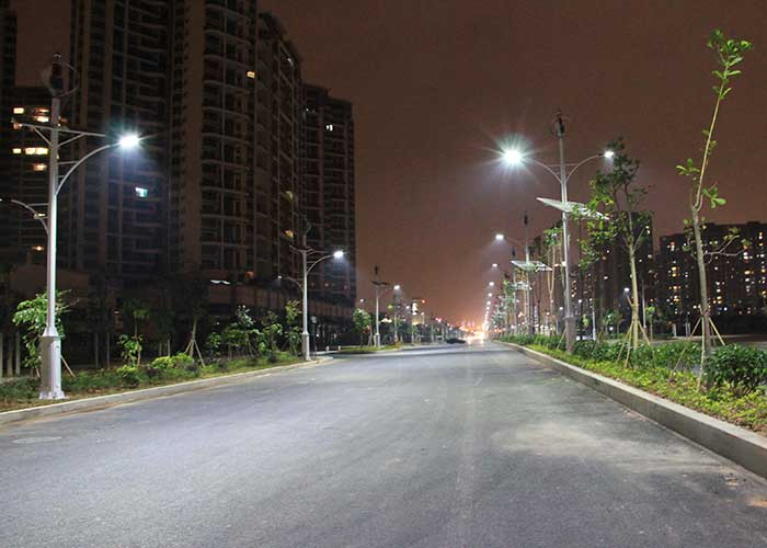 Wind and solar hybrid street light road lighting Xin'an West Road