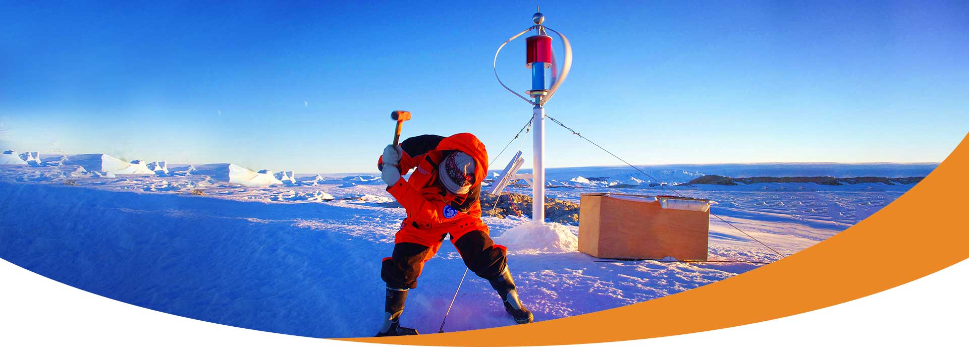 Wind Turbine   Standing on the South Pole