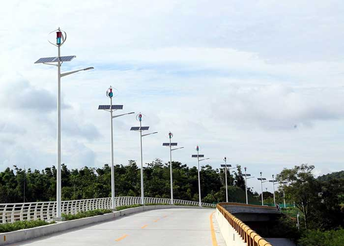 Wind And Solar Hybrid Street Light Urban Lighting