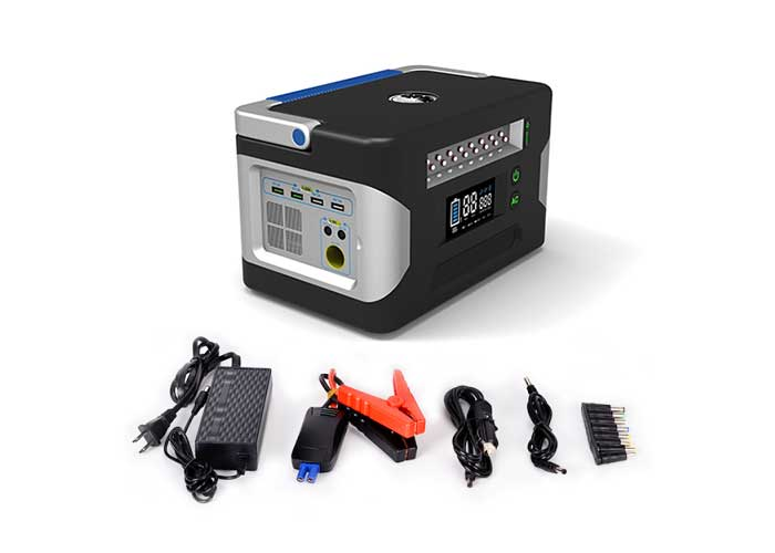 500W-AC-DC multi-function solar portable power supply, charging adapter and charging cable