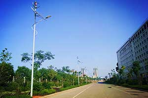 Hunan Changsha wind and solar hybrid street light system