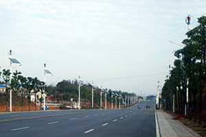 Hunan Xiangyin Wind And Solar Hybrid Street Light System