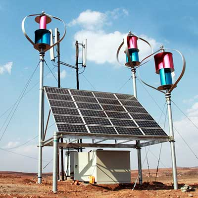 Wind and solar hybrid communication base station system